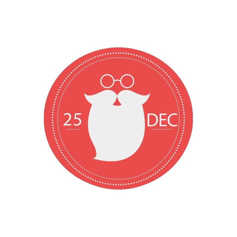 Stickers Cercle de Noël - 30 x 30 cm