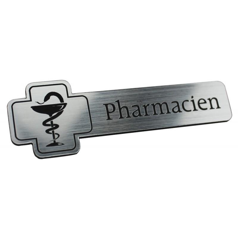 Badge en forme de croix - Texte Pharmacien