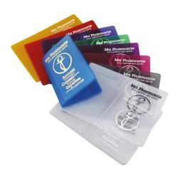 Porte carte pvc Cristal souple, 2 poches, 130x95mm