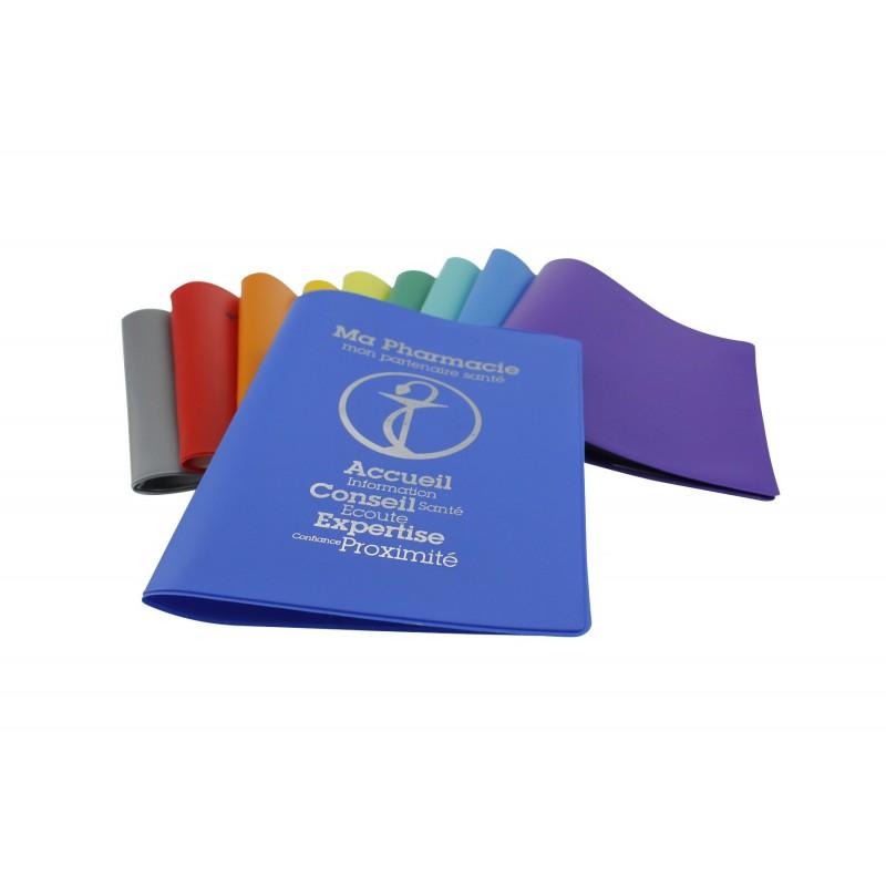 Porte-carte Vitale PVC mat color - 2 poches - personnalisé