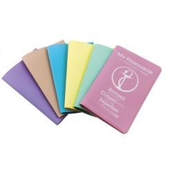 Porte carte pvc Pastel, 2 poches, 130x95mm