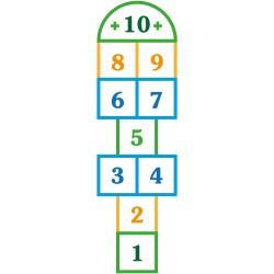 Marelle adhésive modèle 1 - 85 cm x 22 cm