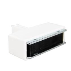 Bloc aimanté 3 mm pour signalétique sur gondole métallique