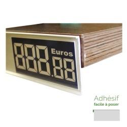 Lineaire porte-prix 1000 x 30 mm profile adhesif par 10