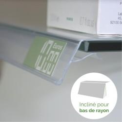 lineaire porte prix profile pince 1000x26mm (lot de 10)