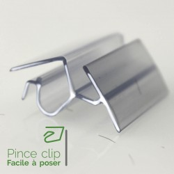 Pince clip pour glissiere (lot de 50) pour tablette 10 à 15mm