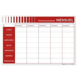 Planning mensuel perpétuel effaçable - 90 x 60 cm