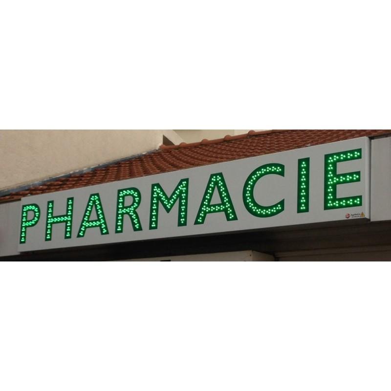 Bandeau d'enseigne lumineux Pharmacie