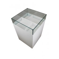 Soldeur métal et verre format carré 60 x 60 x 95 cm