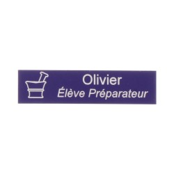 Badge personnalisé rectangle - Violet