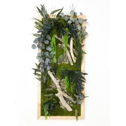 Cadre végétal artistique - 45x100 cm