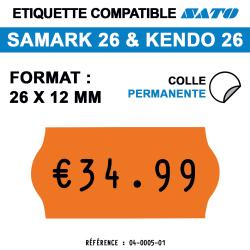 Samark 26 & Kendo 26 - 26x12 mm - Orange Fluo