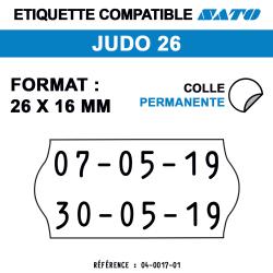 Étiquettes Meto Judo 26 - 26x16 mm - Rouleau de 1200 étiquettes