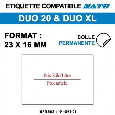 ROULEAU 1200 ETIQ 23*15 MM SATO DUO 20