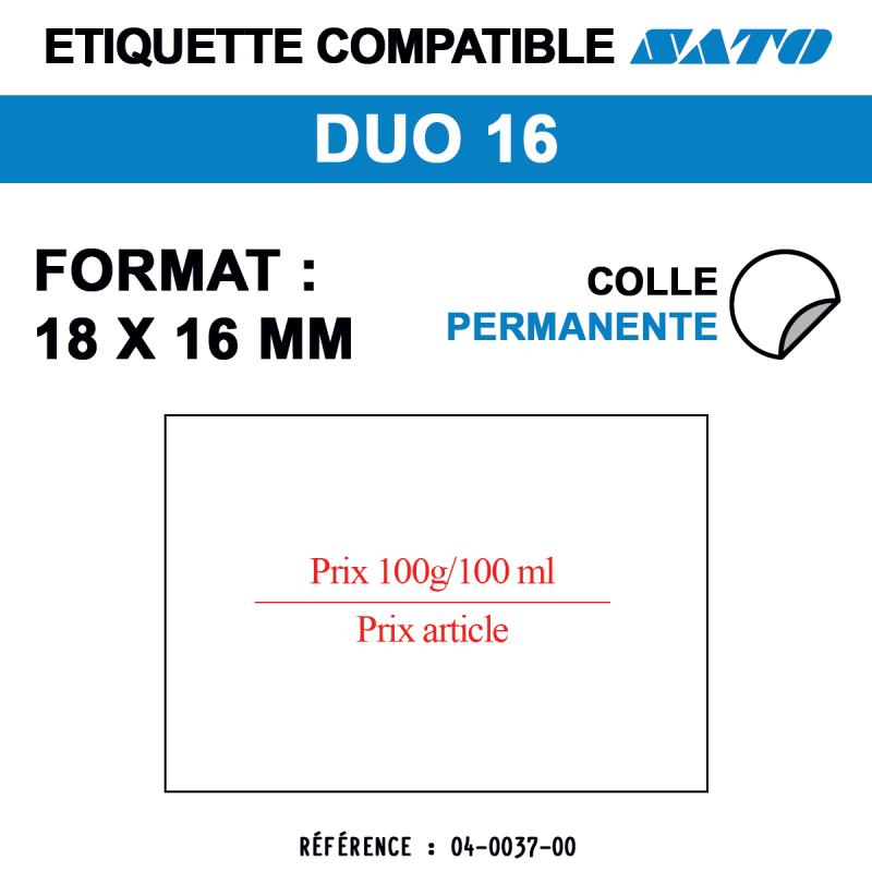 Etiquettes Sato duo16 18x16mm 1500etiq caducéeprix