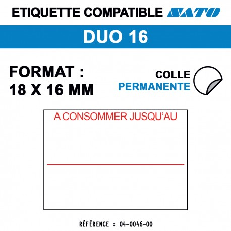 ROULEAU 1500 ETIQ 18*16 MM SATO DUO 16