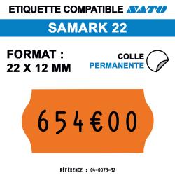 Samark 22 - Format 22x12 mm -  Rouleau de 1500 étiquettes