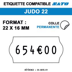Judo 22 - Format 22x16 mm - Rouleau de 1200 étiquettes