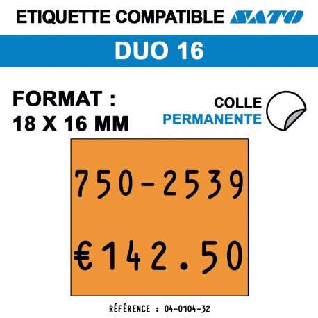ROULEAU 1500ETIQ 18*16 MM SATO DUO16