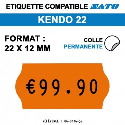 Sato Kendo 22 - Format 22x12 mm - 10 rouleaux de 1500 étiquettes