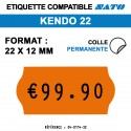 Etiquette kendo22 22x12mm 1500etiq permanent