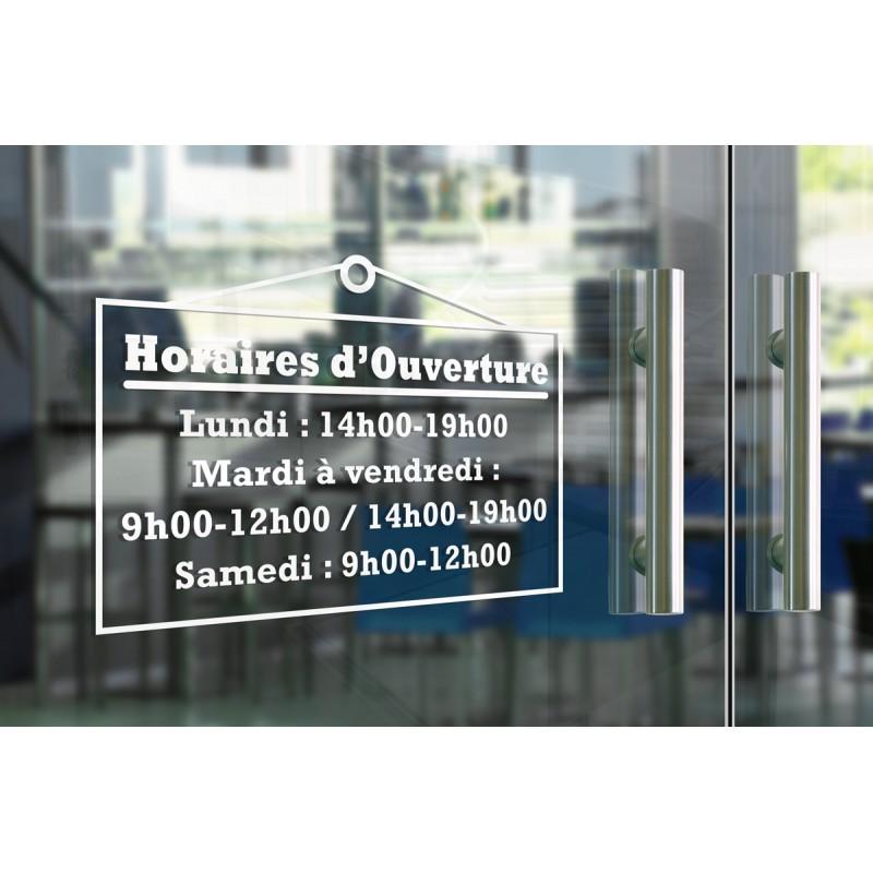 Stickers horaires adhésifs - Pancarte
