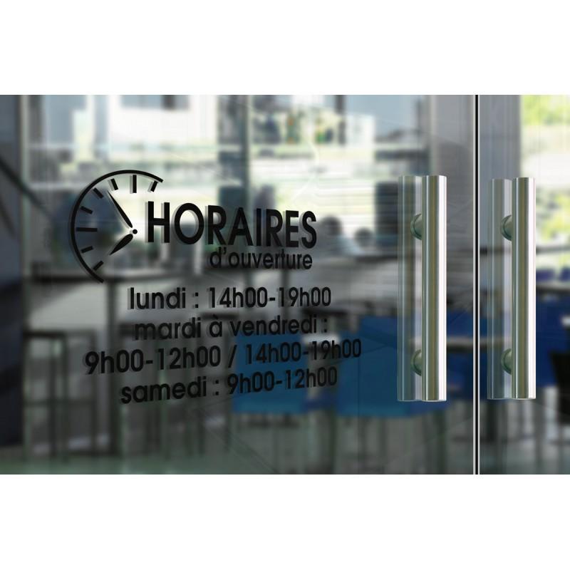 Horaires adhésifs en vinyle - Horloge moderne 1