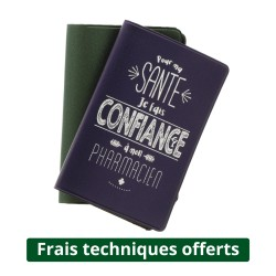 Porte cartes 2 poches - PVC Satiné