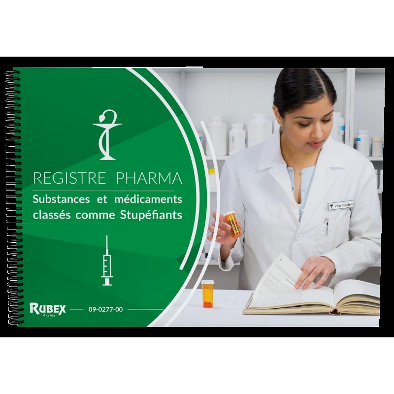 Registre comptable des stupéfiants - Format A4 - Spécial officines de pharmacie