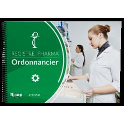 Ordonnancier de pharmacie. 100 pages foliotées - Reliure à spirales