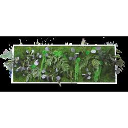 Cadre végétal grand panoramique - 135x50 cm