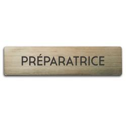 Badge Préparatrice rectangulaire