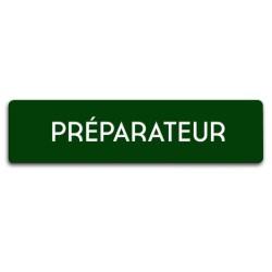 Badge Préparateur rectangulaire