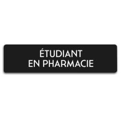 Badge Étudiant en pharmacie rectangulaire