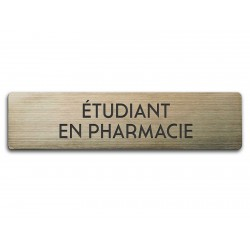 Badge Étudiant en pharmacie rectangulaire