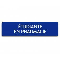 Badge Étudiante en pharmacie rectangulaire