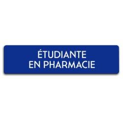 Badge Étudiante en pharmacie rectangulaire