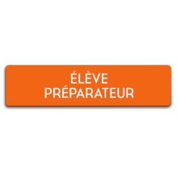Badge Élève préparateur rectangulaire