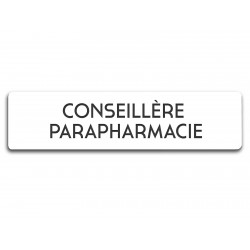 Badge Conseillère parapharmacie rectangulaire