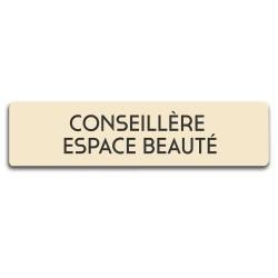 Badge Conseillère espace beauté rectangulaire