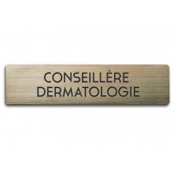 Badge Conseillère dermatologie rectangulaire