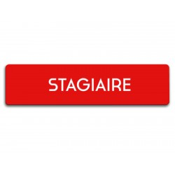 Badge Stagiaire rectangulaire