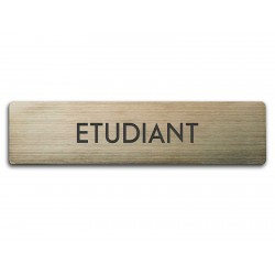 Badge Étudiant rectangulaire
