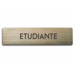 Badge Étudiante rectangulaire