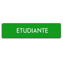 Badge Étudiante rectangulaire