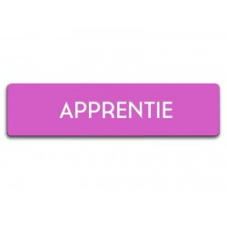 Badge Apprentie rectangulaire