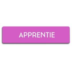 Badge Apprentie rectangulaire