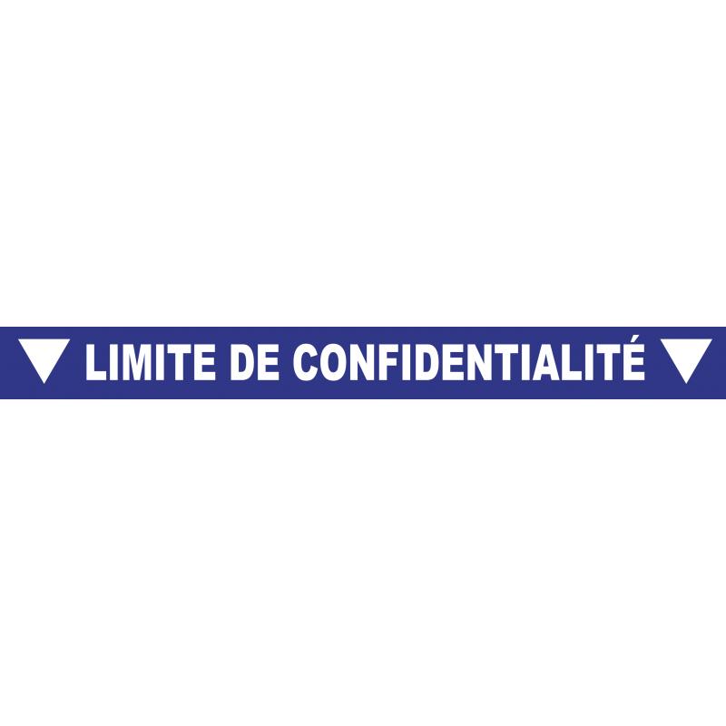 """Ligne de confidentialité 100 x 10 cm """"Limite de confidentialité"""""""