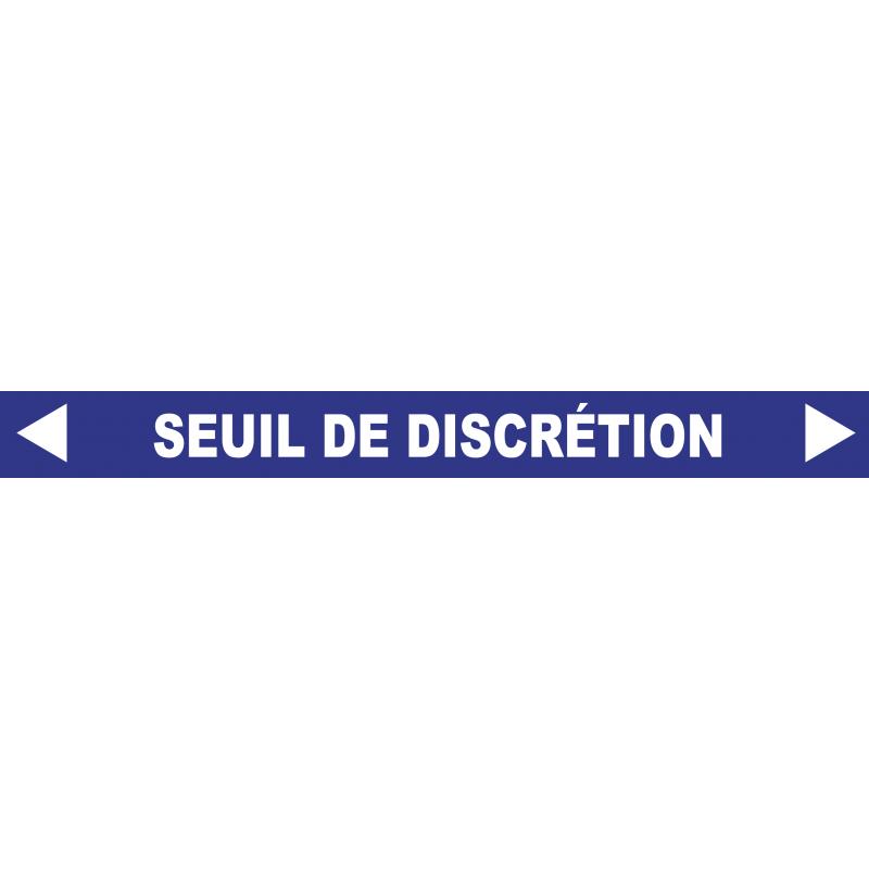 """Ligne de confidentialité 100 x 10 cm """"Seuil de discrétion"""""""