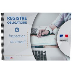 Registre de l'inspection du travail, format A4, 24 pages foliotées